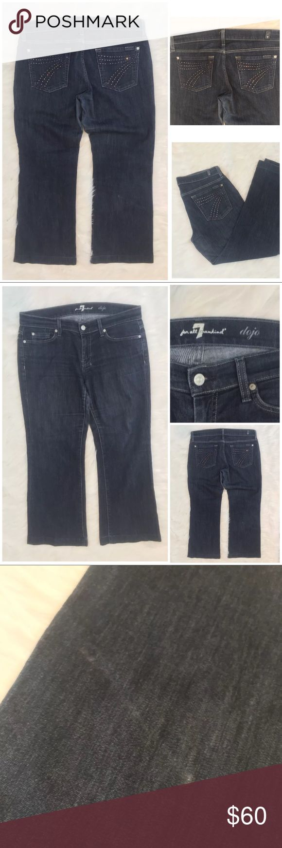 7 FoR all mankind Jeans dojo Size 30 wide leg 7 FoR all mankind Women Jeans dojo Size 30 wide leg        Brand: 7 for all mankind  Size: 30  Color: blue  Condition: good, but has some imperfections - please check pictures      Stock number: B005 7 For All Mankind Jeans Flare & Wide Leg