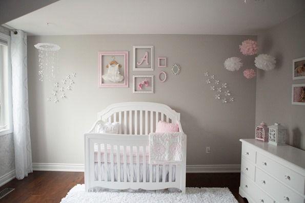 pinkgraynurserynew 3492   Pink and Gray Baby Girl Nursery Tour