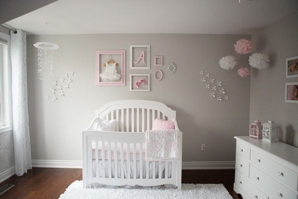 Pinkgraynurserynew 3492 pink and gray baby girl nursery for Top rated neutral paint colors