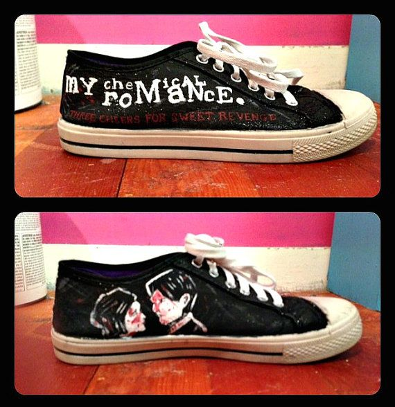 Women's My Chemical Romance Shoes by RisingRedFox on Etsy, $75.00
