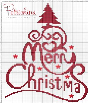 buon natale Merry Christmas schema punto croce - cross Stitch - Kreuzstich - Punto de Cruz