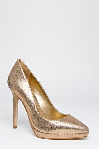 Montauk High Heel Pump - Gold