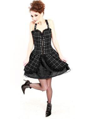 Вечернее платье в стиле панк рок