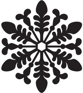 489 best Snowflake Silhouettes, Vectors, Clipart, Svg ... Christmas Snowflake Silhouette