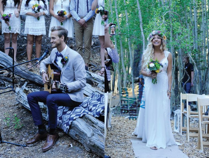 Mount Charleston Wedding Bohemian Las Vegas Boho Flora Pop