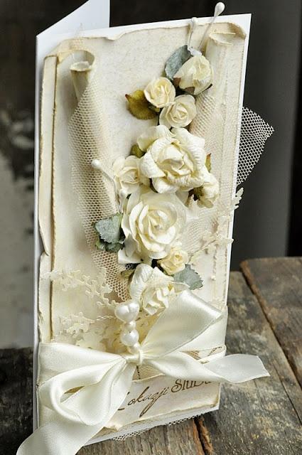 From Ewa Mrozowska, aka Cynka Poletko, in Wielkopolska, POLAND. wedding card @ cynkowepoletko.blogspot.com