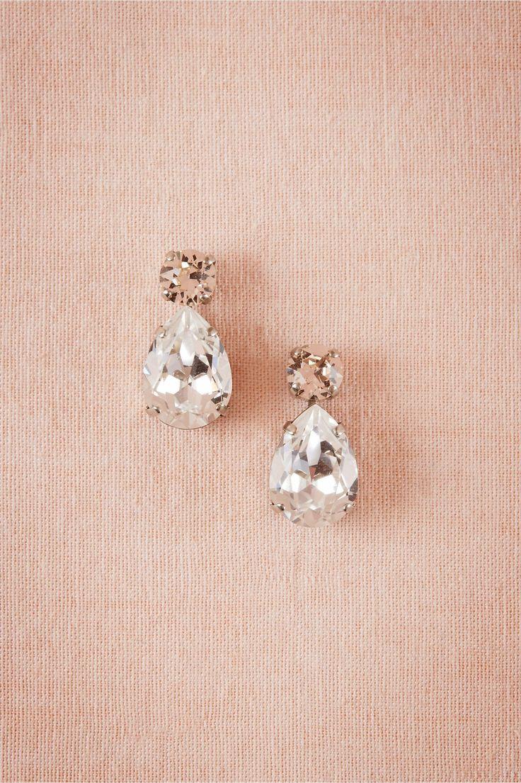Petite Crystal Drops in Brautparty & Gäste Brautjungfernschmuck bei BHLDN #wedd …   – ** Sparkle **