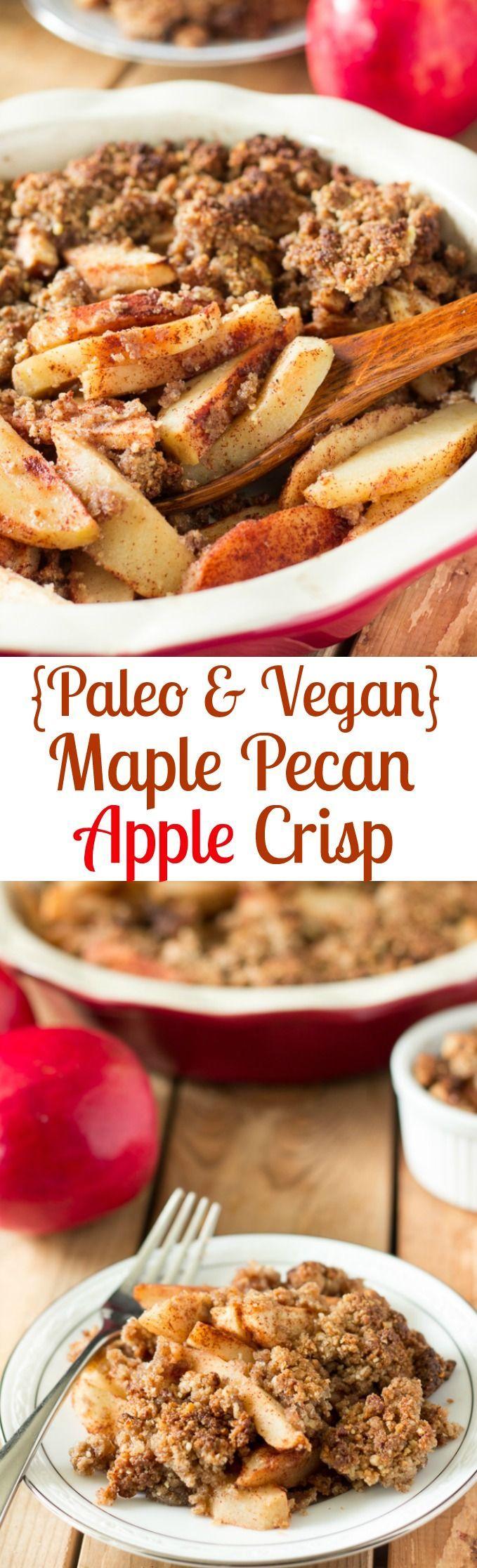 Paleo Maple Pecan Apple Crisp