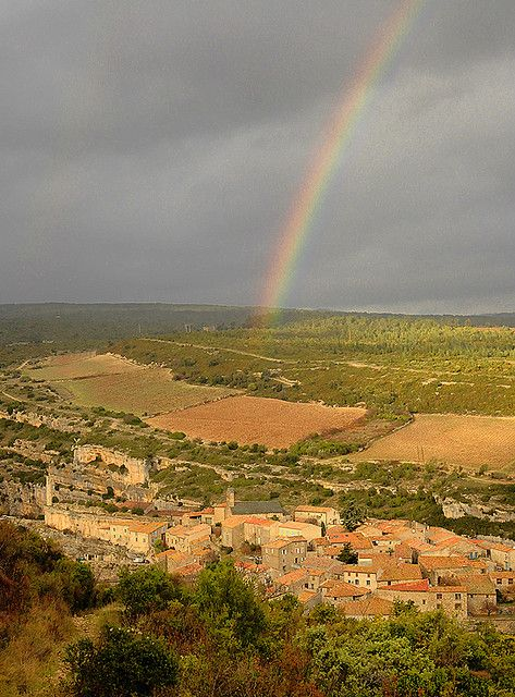 Rainbow over Minerve, France