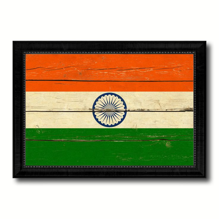 India Country Flag Vintage Canvas Print with Black Picture Frame Home Decor Gifts Wall Art Decoration Artwork