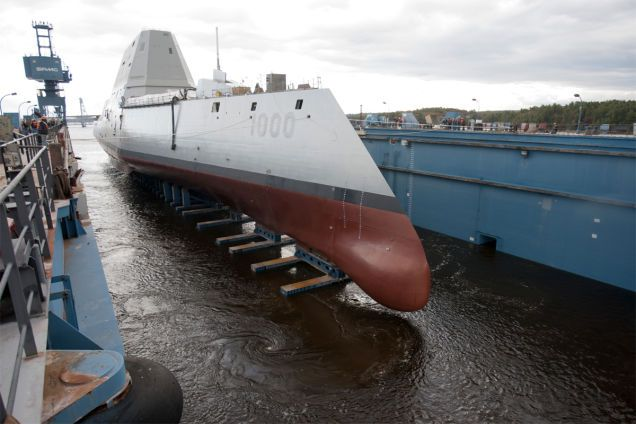 18 High-Tech Warships From the Future That Rule the Seas Today :: The USS Zumwalt (DDG 1000) is the first of three Zumwalt-class guided-missile destroyers developed for the U.S. Navy. It was christened on April 12th, 2014, and will be commissioned in 2015.