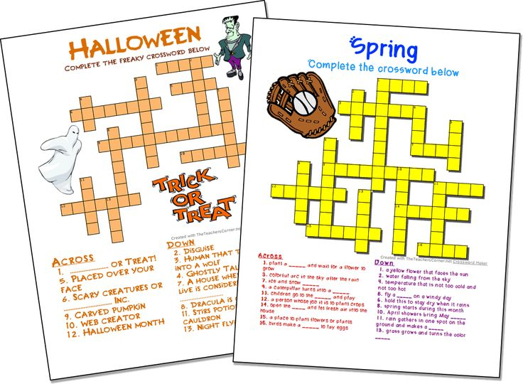 Make your own crosswords FREE.  Add images, colors and fonts.  No registration needed to make highly custom and professional looking crosswords!