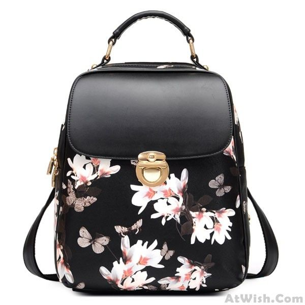 Wow~ Awesome Fresh Girl Butterfly Flower School Bag Casual Backpack! It only $33.99 at www.AtWish.com! I like it so much<3<3!