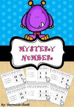In these task cards, the students have to answer three calculations in order to figure out what the mystery number is, by process of elimination. The task cards include subtraction with numbers between 0 - 20.There will be similar units with multiplication and division as well.