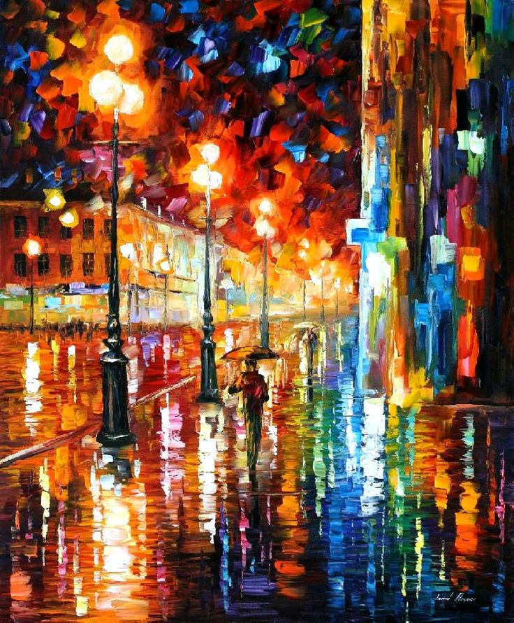 tempo of the rain by leonid afremov