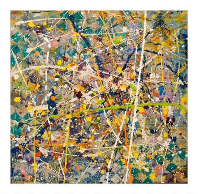 """""""Bleu lagoon"""",100x100cm,oil on canvas,by Sam Radja,2015,for sale"""