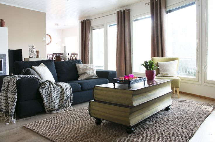 Living room makeover with soft tones and textiles