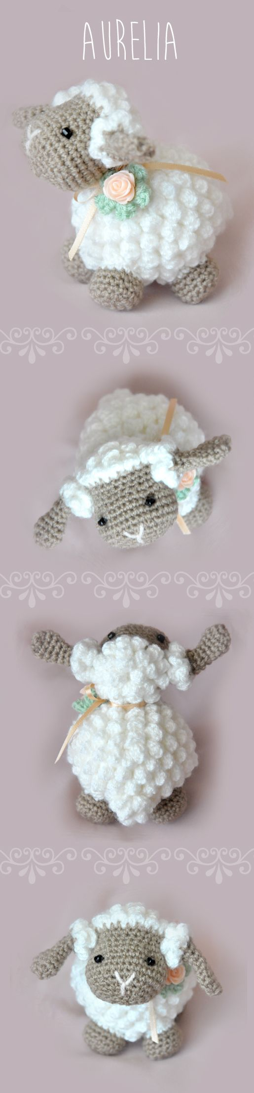 Adorable amigurumi sheep