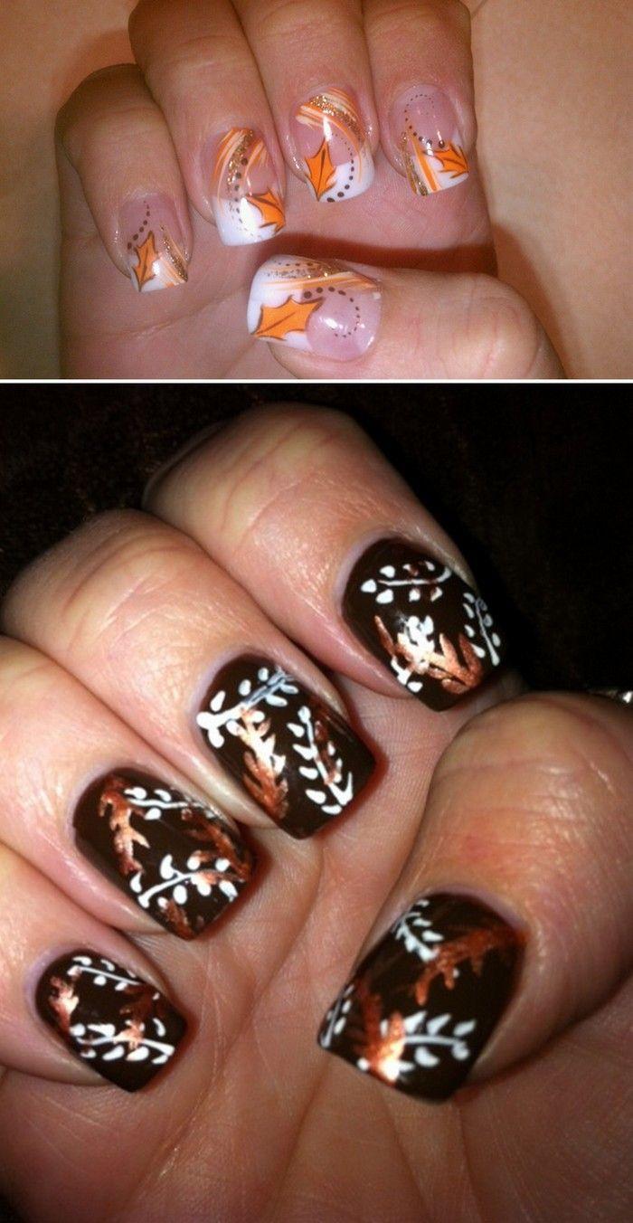 fall thanksgiving nails