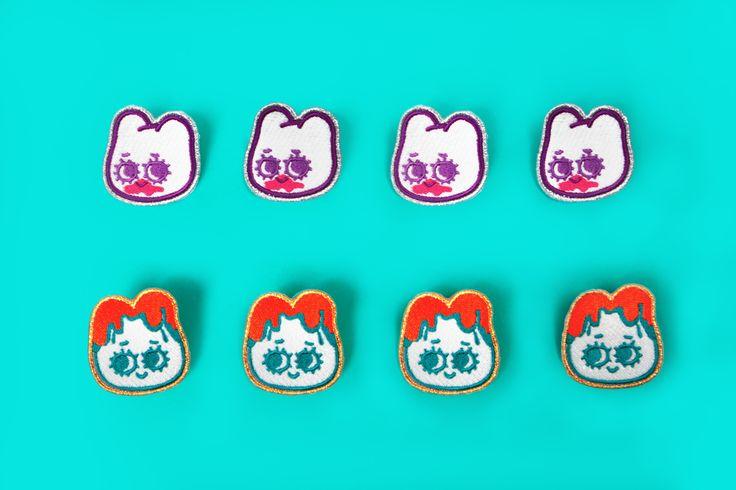 pouch desgn / exhibition goods / 파우치, 데님, 동전지갑, 자수패치, 자수