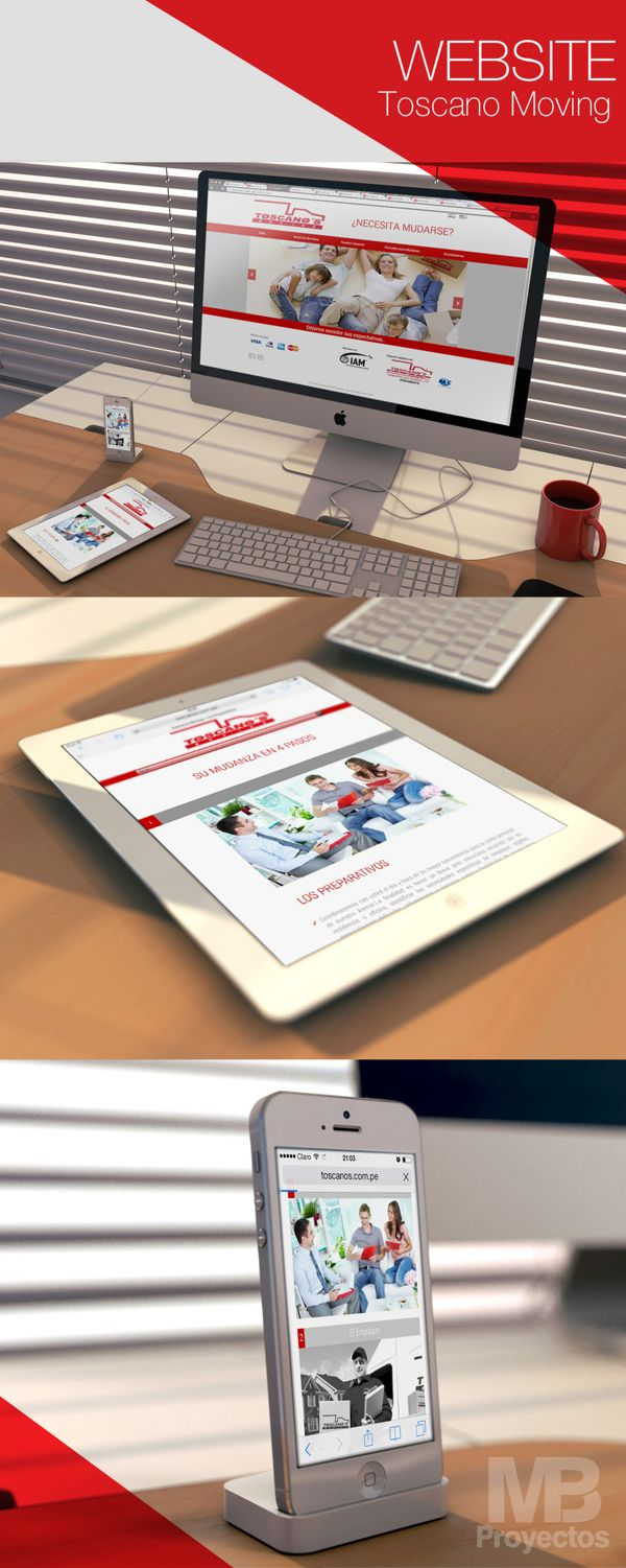 WEBSITE TOSCANOS MOVING by MB Proyectos, via Behance