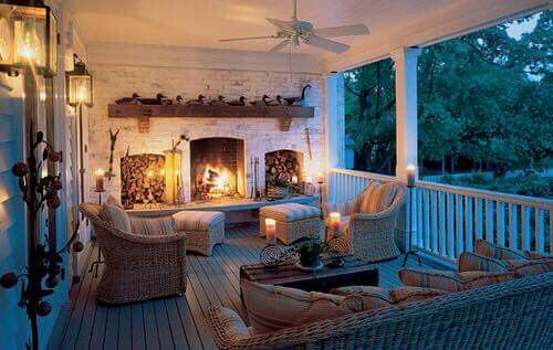 Aboslutely want a fireplace probably more than one and a fire pit on lanai with ceiling fans and the ceilings being wood not the damn crappy stuff that Bullard used that I have had to replace. I need to be able to spray down a lanai in Florida so hardey board everywhere is good