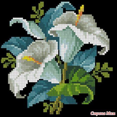 Подборка Вышивки красивых цветов - Клуб рукоделия - Страна Мам