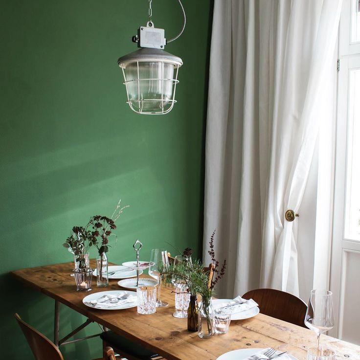 Dunkelgrün als Wandfarbe. kolorat wandfarbe