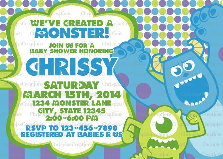 Monster Inc Invites as good invitation template