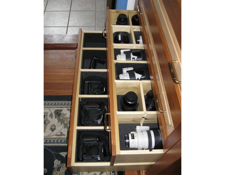 camera storage drawers
