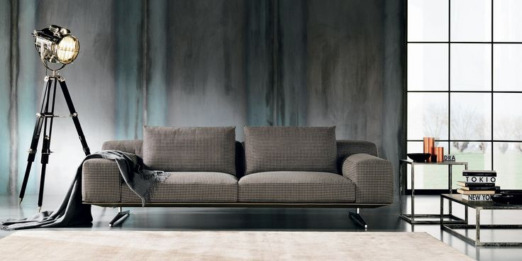 The new Soft Levi from Max Divani is as comfortable as the name suggest. Modern designed steel frame supporting a super plush sofa or loveseat for maximum comfort. This new style is available is a variety of colors and can be done in either leather or fabric. Designed and made in Italy.