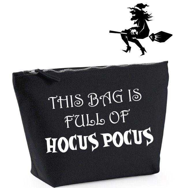 This Bag Is Full Of Hocus Pocus. Funny Halloween Makeup Bag. Hocus Pocus Bag…