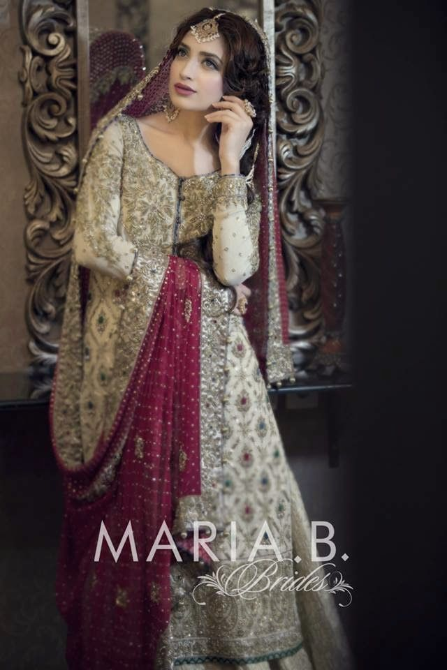 New Designs Of Wedding Dresses For Young Brides By Maria.B From 2015