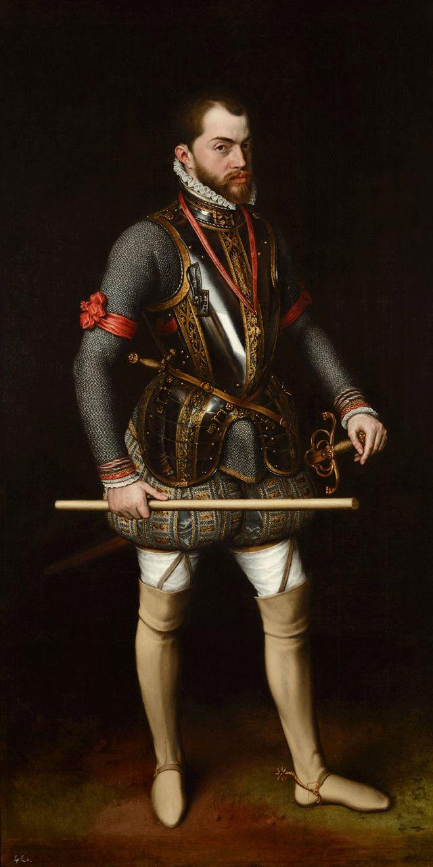 Felipe II en la jornada de San Quintín