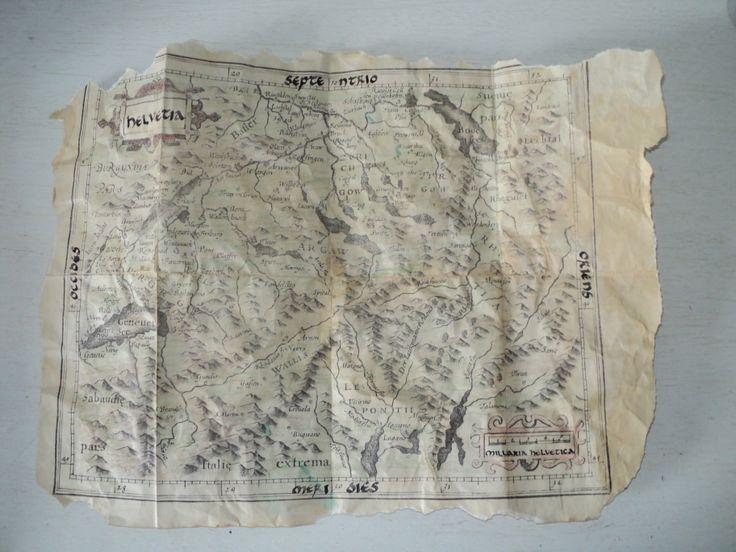 detalle de mapa que se encuentra suelto dentro del libro.