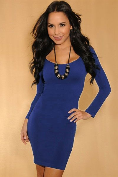 Simple Sexy Navy Bodycon Dress