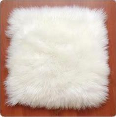 Square Long Wool (50mm) Flat Cushion 40cm x40cm Cotton Backing Soft and comfortable, suits all chairs and seats