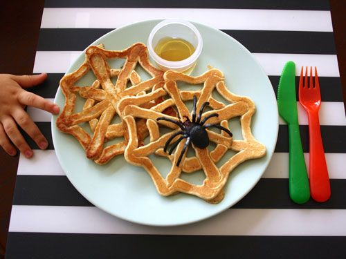 Let your kids eat these spider webs pull-apart style with a small side of syrup for easy dipping