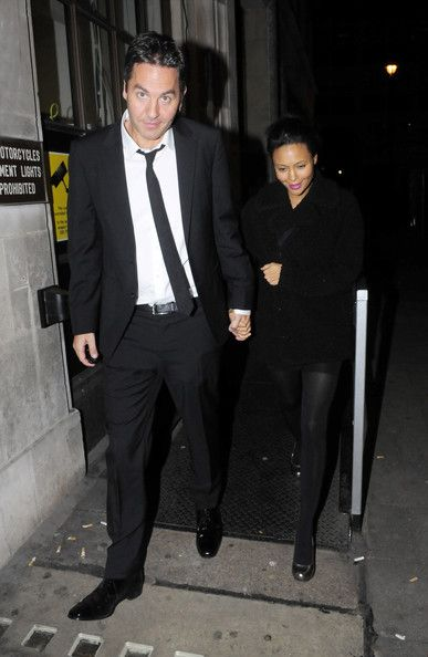 Thandie Newton with Her Husband | Thandie Newton and her husband Ol Parker leaving Radio 1 in London in ...