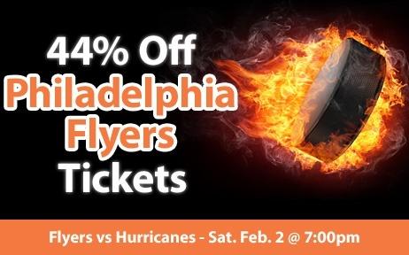 $60 (44% off) Philadelphia Flyers Tickets vs Carolina Hurricanes Sat. Feb. 2 @ 7:00pm - Crowd Seats Cheap Sports Tickets
