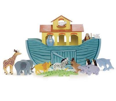 Noahs ark, lekebåt med dyr