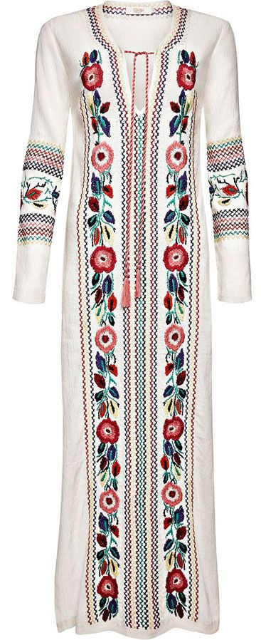 """Candela: Off White Coca Tunic - """"O Children of Adam Wear your beautiful apparel at every time and place of prayer: eat and drink: but wast not be excess, for Allah loveth not the wasters."""" Surah Araf, 31"""