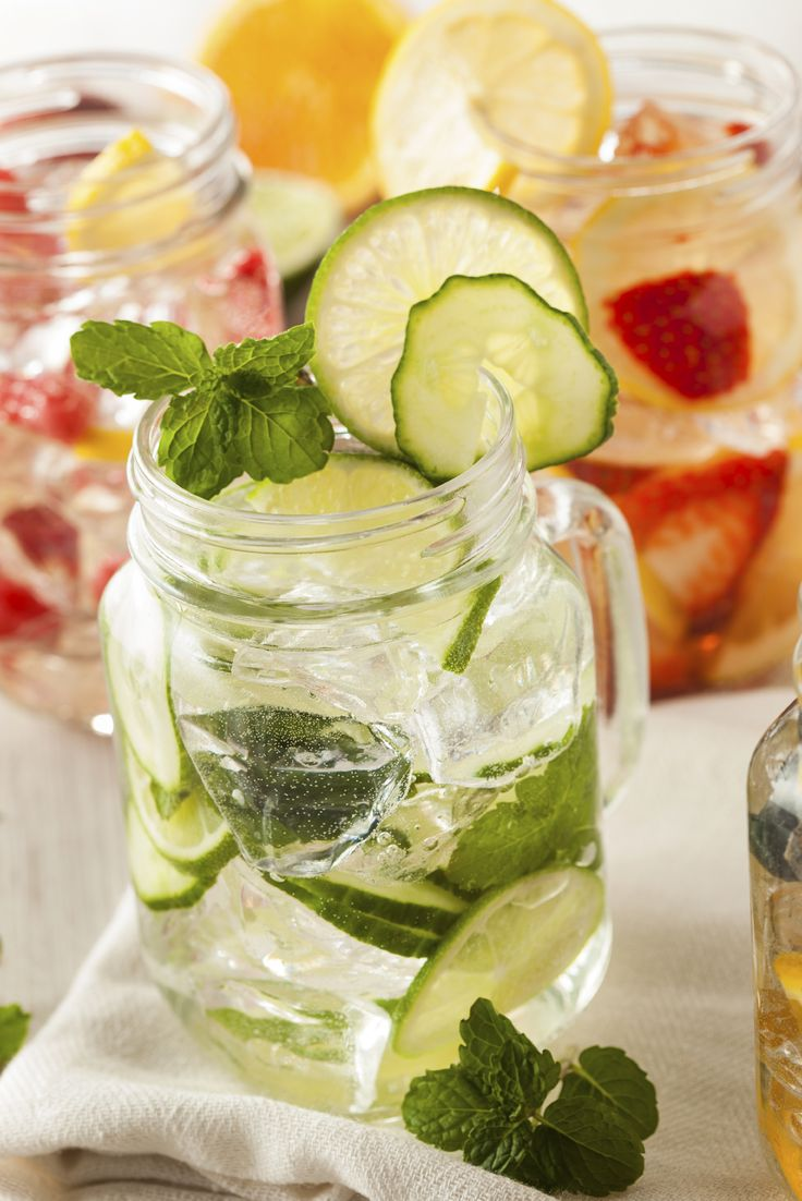Flavoured water. A.k.a. spa water. Delicious ideas. And, what not to do: http://kristenyarker.com/blog/ngc-spa-water