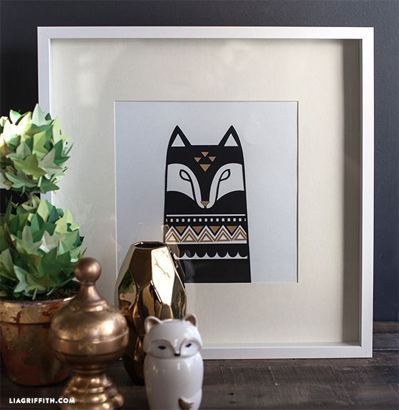 Wall Decor With Cricut : Scandinavian animal wall art by lia griffith made with the
