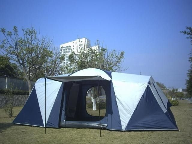 319.01$  Watch now - http://ali7g5.worldwells.pw/go.php?t=32309087215 - 3 room waterproof outdoors tourism large camping two room tents for camping one hall 8 person tent
