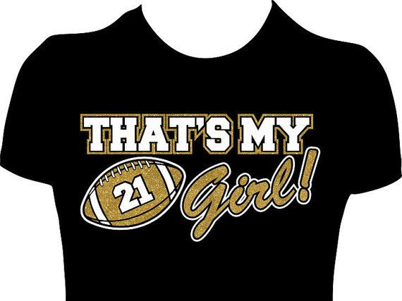 Thats My Girl Football Mom Womens Tee. Personalized by GlitzyTees