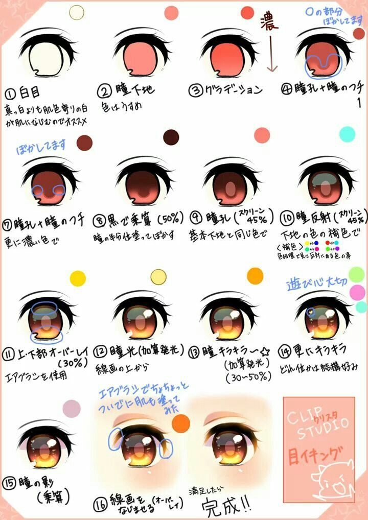 How To Color Anime Eye Coloring In 2019 Eye Drawing Tutorials