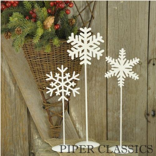 Snowflake Pedestals - Set/3: Christmas Celebrity, Christmas Thyme, Snowflakes Pedestal, Catalog, Country Winter, Winter Christmas New, Bpa Winter, Snowflakes Design, Winter Decorations