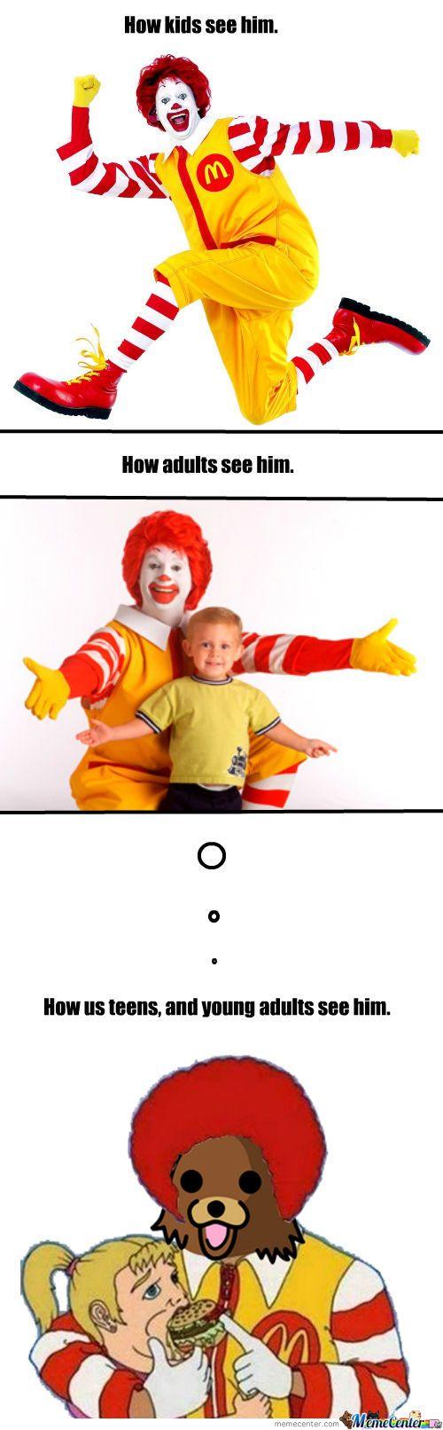 Ronald McDonald | Ronald Mcdonald. - Meme Center