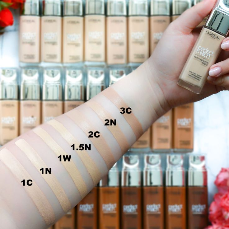 Swatches Loreal Perfect Match Foundation -29 Farben